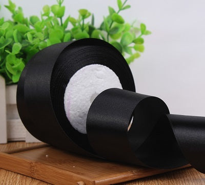 "Satin Ribbon 2"" wide 22 meter (black)-E667975F-6"