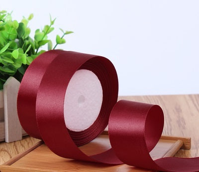 "Satin ribbon roll( 3.8-4 cm/1.5"" wide) (Burgundy)-C8D13AC6"