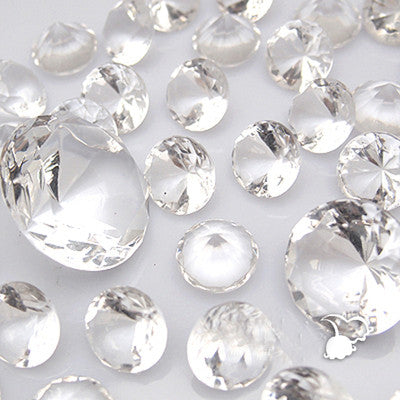 4cm Acrylic Diamond Decoration (10 pcs) - Richview Glass Wedding Supplies