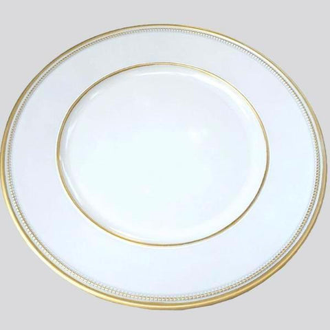 CP 19019 Gold Charger Plate Acrylic - Richview Glass Wedding Supplies