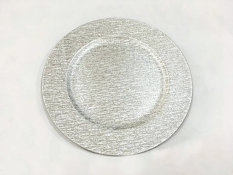 "13"" Acrylic Charger Plate (Silver) -ACRC2 - Richview Glass Wedding Supplies"
