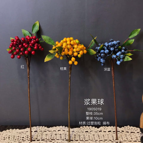 New Blue BERRY ARTIFICIAL FLOWER BLUEBERRY