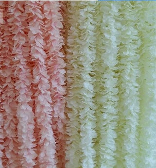 Artificial Hydrangea Flower Garland (Blush) - Richview Glass Wedding Supplies