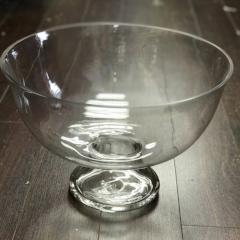 "GLASS BOWL VASE 14""W X 9.5""H WEDDING CENTERPIECE - Richview Glass Wedding Supplies"