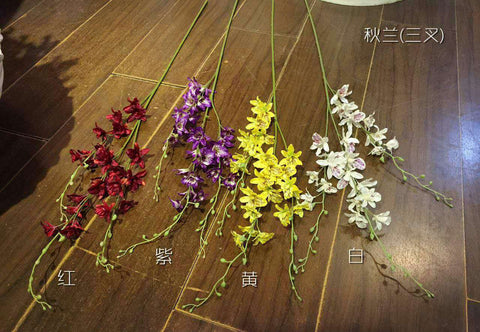 Artificial Flower White/red/purple orchid silk flower (White) ORC1 - Richview Glass Wedding Supplies