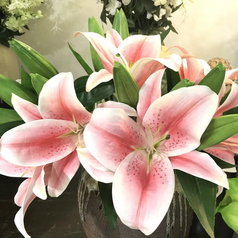 Pink Soft Touch Stargazer Lily Artificial flowers