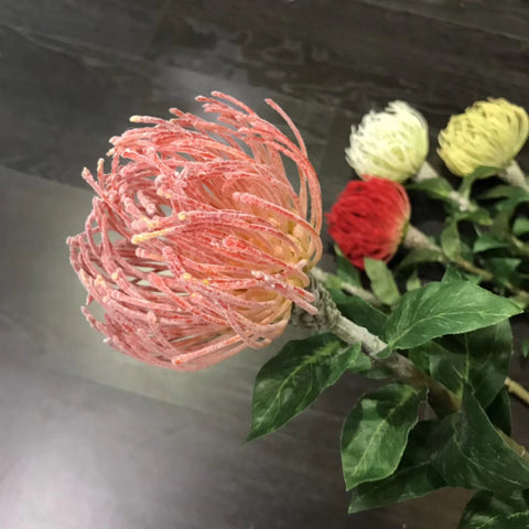 Pink Pin Cushion Tropical Artificial flower