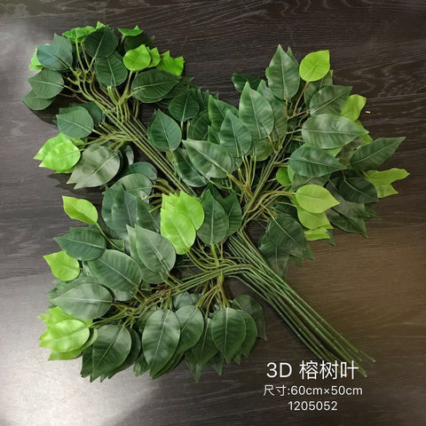 Ficus Leaf artificial greenery - Richview Glass Wedding Supplies