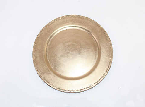 With dot Gold Charger Plate Acrylic 13""