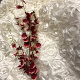 Artificial Flower Burgundy Oncidium Dancing Lady orchid - Richview Glass Wedding Supplies