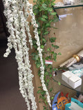 Hanging White Amaranthus for Wedding home decor (White) HAN1-4 - Richview Glass Wedding Supplies