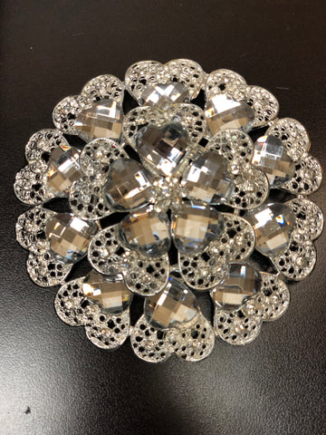 Flower Brooch decoration - Richview Glass Wedding Supplies