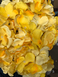 Artificial Flower Yellow Hydrangea Bunch 7 head silk - Richview Glass Wedding Supplies