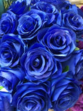 Artificial Flower Rose Bunch with leaf 18 head (Royal Blue)-FLO2-5 - Richview Glass Wedding Supplies