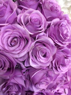 Artificial Flower Rose Bunch with leaf 18 head (Light Purple/Lavender) FLO2-6 - Richview Glass Wedding Supplies