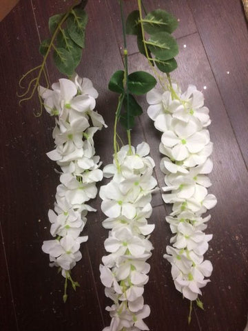 Artificial wisteria wedding decor - Richview Glass Wedding Supplies