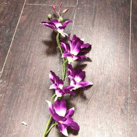 WHOLESALE ARTIFICIAL FLOWER WHITE DENDROBIUM ORCHID SILK FLOWER (purple)-F7752A6B-2