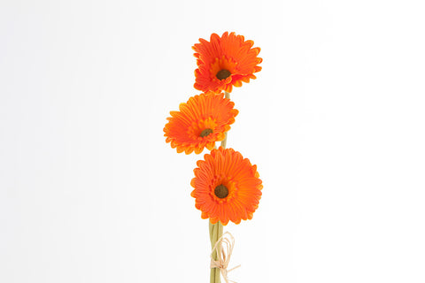 "15"" Real Touch Orange Gerbera X3 - SB220OR - Richview Glass Wedding Supplies"