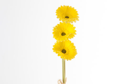 "15"" Real Touch Yellow Gerbera Daisy X3 - SB220YL - Richview Glass Wedding Supplies"