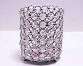 "4X7"" CRYSTAL beaded Candle Holder  - Richview Glass Wedding Supplies"