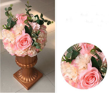 Artificial Flower Rose Hydrangea Arrangement Candy Pink - Richview Glass Wedding Supplies