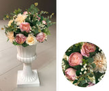 Artificial Flower Rose Hydrangea Arrangement Pink Purple - Richview Glass Wedding Supplies