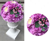Artificial Flower Rose Hydrangea Arrangement Lilac - Richview Glass Wedding Supplies