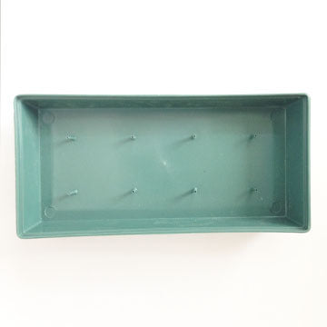 "Rectangular 11"" Designer DISH for Fresh Flowers ONE PIECE Green"