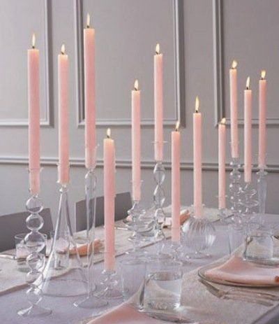 Glass candleholder for taper candles - Richview Glass Wedding Supplies