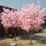 2 meter Tall Faux Cherry Blossom Tree with artificial flower pink - Richview Glass Wedding Supplies