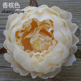 10xCream Peony FLOWER ARTIFICIAL FLOWER HEAD WEDDING peonies - Richview Glass Wedding Supplies