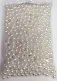 Faux Pearl Ivory or White 10mm beads (White) FAU1-1 - Richview Glass Wedding Supplies