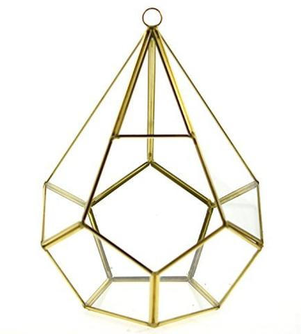 New geometric terrarium Diamond shape Gold