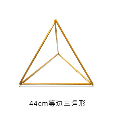 Modern Triangle Stand Metal Gold Geometric Vases 17""