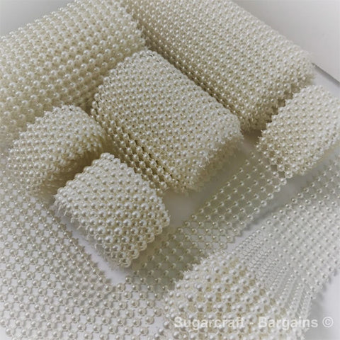 Half pearl mesh ( IVORY) - Richview Glass Wedding Supplies