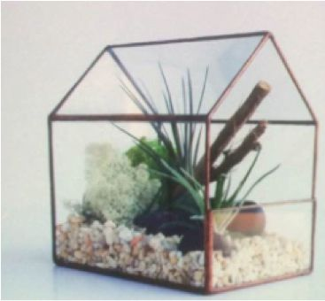 Geometric gold house Terrarium - Richview Glass Wedding Supplies