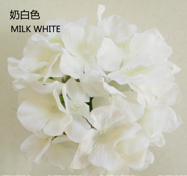 ARTIFICIAL FLOWER HEAD WEDDING DECOR WHITE HYDEANGEA FLOWER - Richview Glass Wedding Supplies