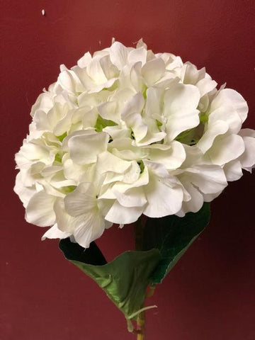 Artificial Flower Ivory/Cream Hydrangea Single Stem - Viva La Rosa