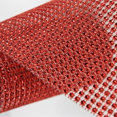 VASE WEDDING DECORATION TRIMMING MESH 10 YARD (red)-VAS3