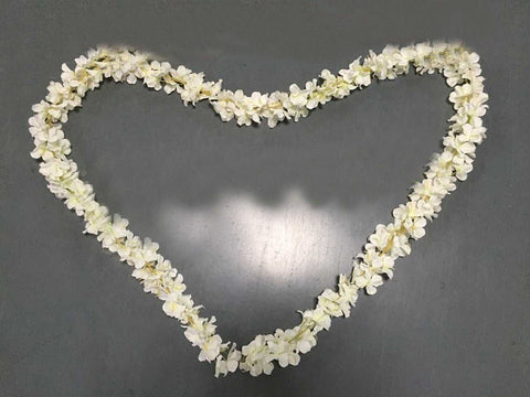 Artificial Flower Hanging Flower Garland hydrangea Wisteria Single Strand 2.2m(white) - Richview Glass Wedding Supplies