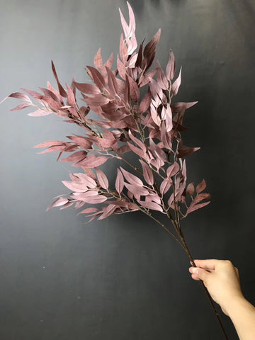 Long stem Purple/Brown Eucalyptus Spray greenery