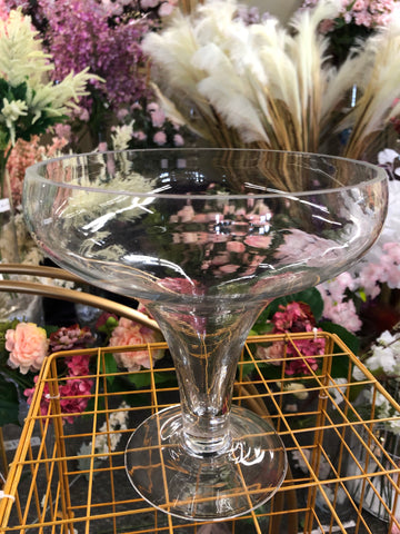 "Clear Glass Bowl Vase 8""H bowl Vase"