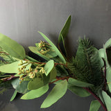 Green artificial Eucalyptus leaf Garland wedding greenery Real touch runner