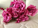 Hot Pink Big stem Carnation Bunch