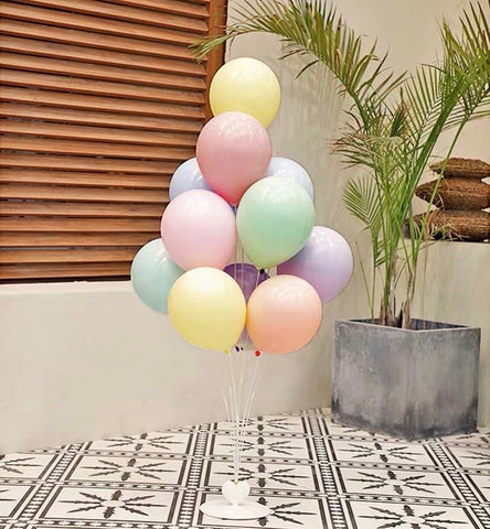 Standing Birthday balloon set Pastel color