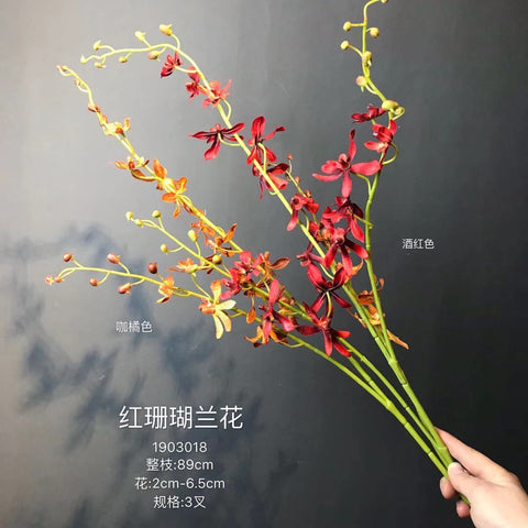 Artificial Flower red orchid silk flower