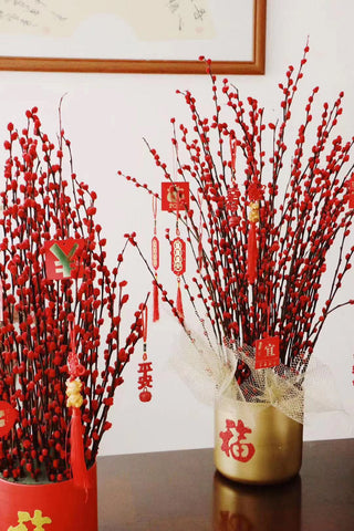 New long stem Red BERRY Chinese New Year