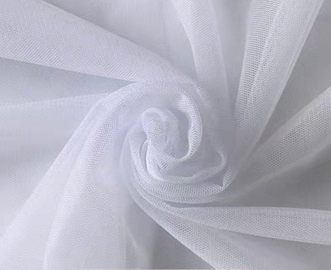 White tulle fabric 6 meter
