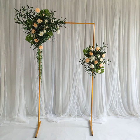 Gold Metal Backdrop/sign Stand