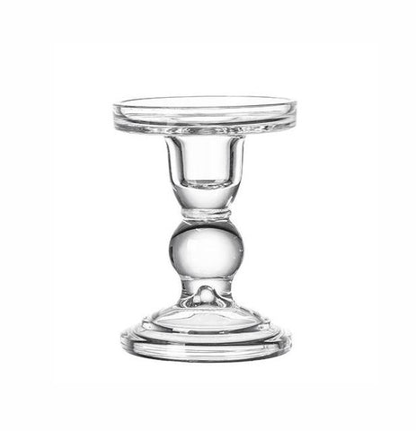 "New Glass CANDLEHOLDER GLASS base 3.5""Hx3"""